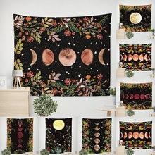 10 видов стилей психоделические Луна гобелен со звездами цветок