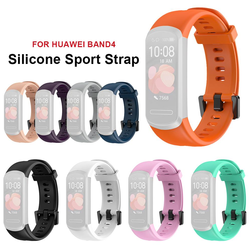 Silicone Wrist Strap For Huawei Band 4 Sport Strap Bracelet Smart Watch Band Wristband For Huawei Band4 Smart Accessories