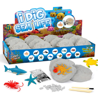 12Pcs Marine Animal Excavation Kit DIY Sea Life Dig Kit Archaeology Science Stem Gift Model Educational Toy Gift For Kid Adult