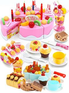 Pretend Play Toys-Set Fruit-Cream Birthday-Cake-Toy Christmas-Gift-Set Girl Kids Children