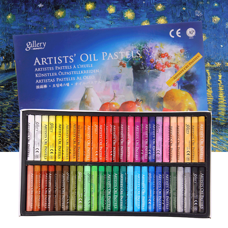 48 Colors Oil Pastel For Artist Student Graffiti Dry Pastel Painting Drawing Pen School Stationery Art Supplies Soft Crayon Set