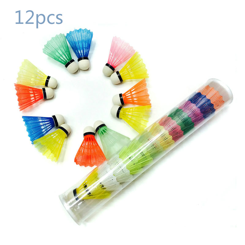 Color 12pcs 6 Color Foam Ball Plastic Ball Children's Badminton Colorful Outdoor Sports  Indoor Sports Durable  Rsl Shuttlecock