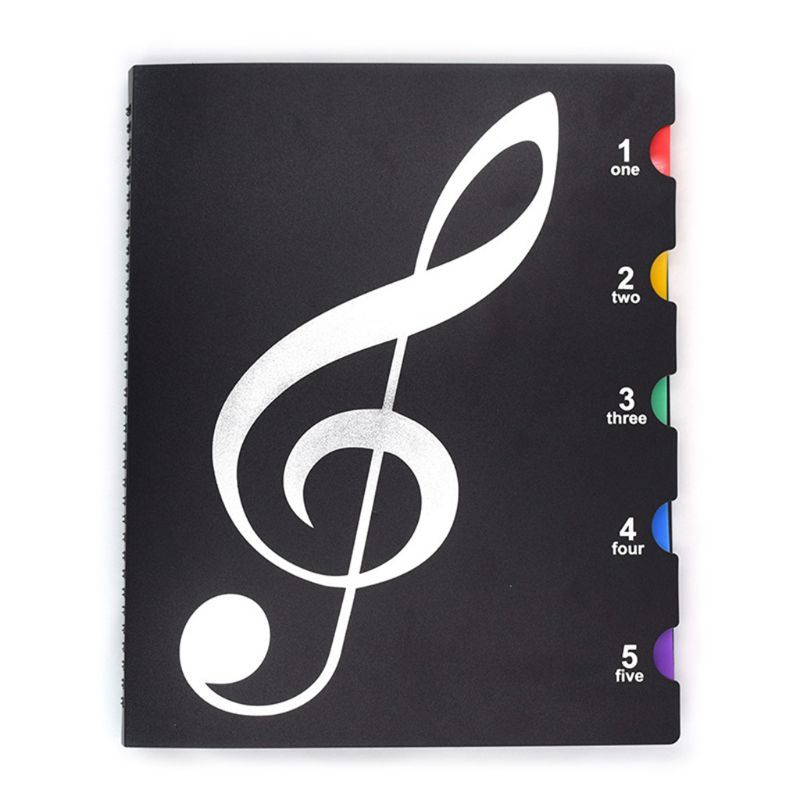 Creative A4 Music Book Folders Piano Multi Function Score Practical File Holder