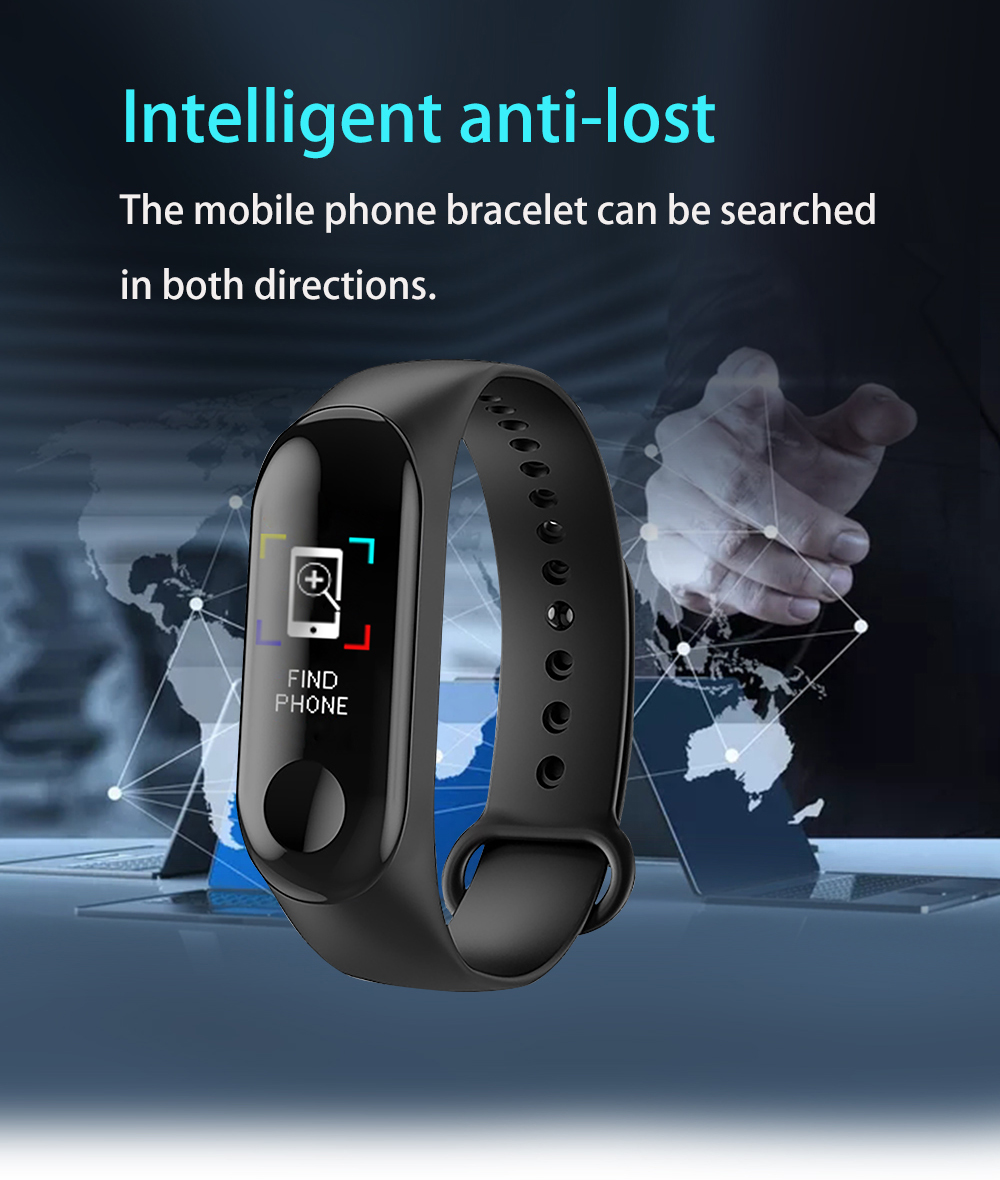 M3Pro Smart Watch Sport Smart Band Blood Pressure Monitor Smart Wristband Smartwatch Bracelet M3 Plus Wristband for Men Women 5