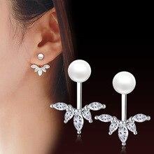 Trendy Elegant Created Simulated white Pearl Quality Geometry Long Tassel Ladies Earrings Jewelry Female