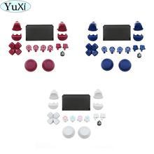 YuXi مجموعة كاملة أزرار لوحة اللمس الزناد L1 R1 L2 R2 إصلاح قطع غيار سوني PS4 برو سليم ل Dualshock 4 تحكم jds 040 JDS 040