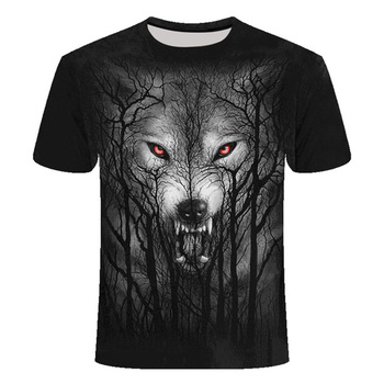 Men's T-shirt Casual 3D lion printed clothes short sleeve breathable Top Tees Fitness tshirt casual Animal T Shirts Men