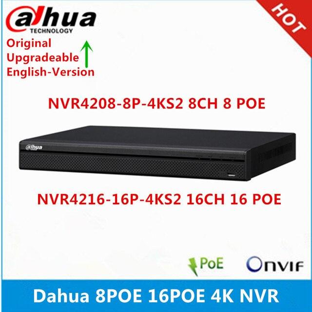 Dahua NVR4208-8P-4KS2 8CH 8 POE NVR4216-16P-4KS2 16CH 16 POE ports max support 8MP Resolution 4K NVR Reader