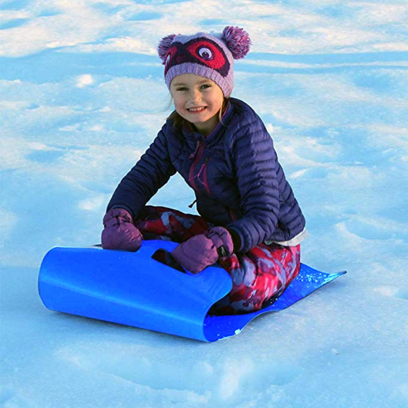 Snow Sled Cold Resistant Portable Roll Up Sand Grass Rolling Slider Pad Board Toy For Adult Children