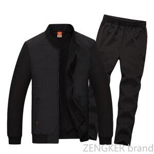 Image 3 - גברים של גודל גדול חליפה בתוספת גודל זיעה חליפת אביב ספורט גדול גודל גברים של אימונית 8XL 7XL 6XL Jogger חליפות לגברים תלבושת