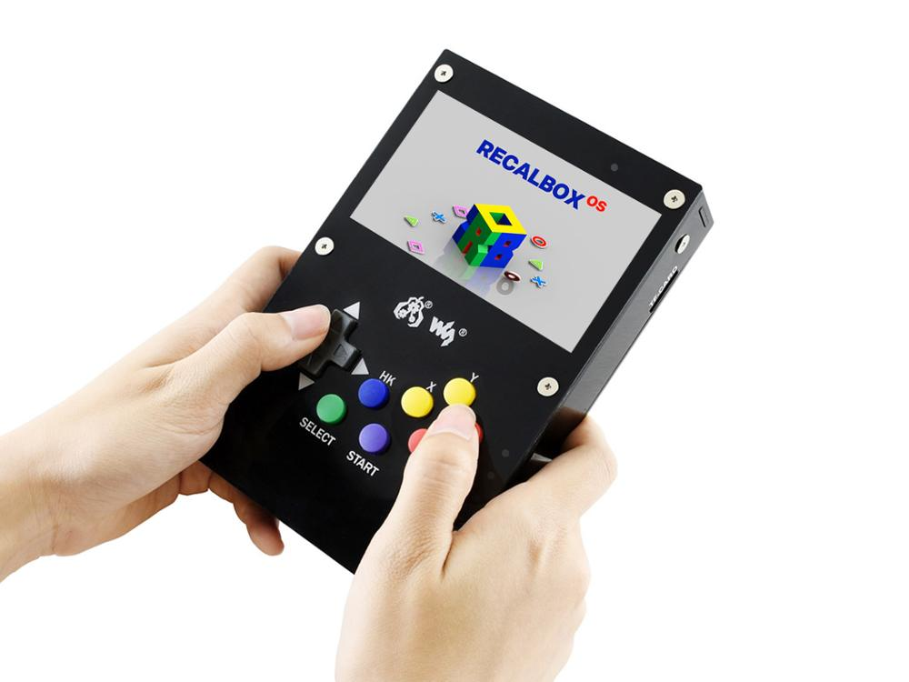 Video Game Console,Portable Retro 4.3inch IPS Display,  Waveshare GamePi43 Accessories, Based On Raspberry Pi, 800*480 Pixels