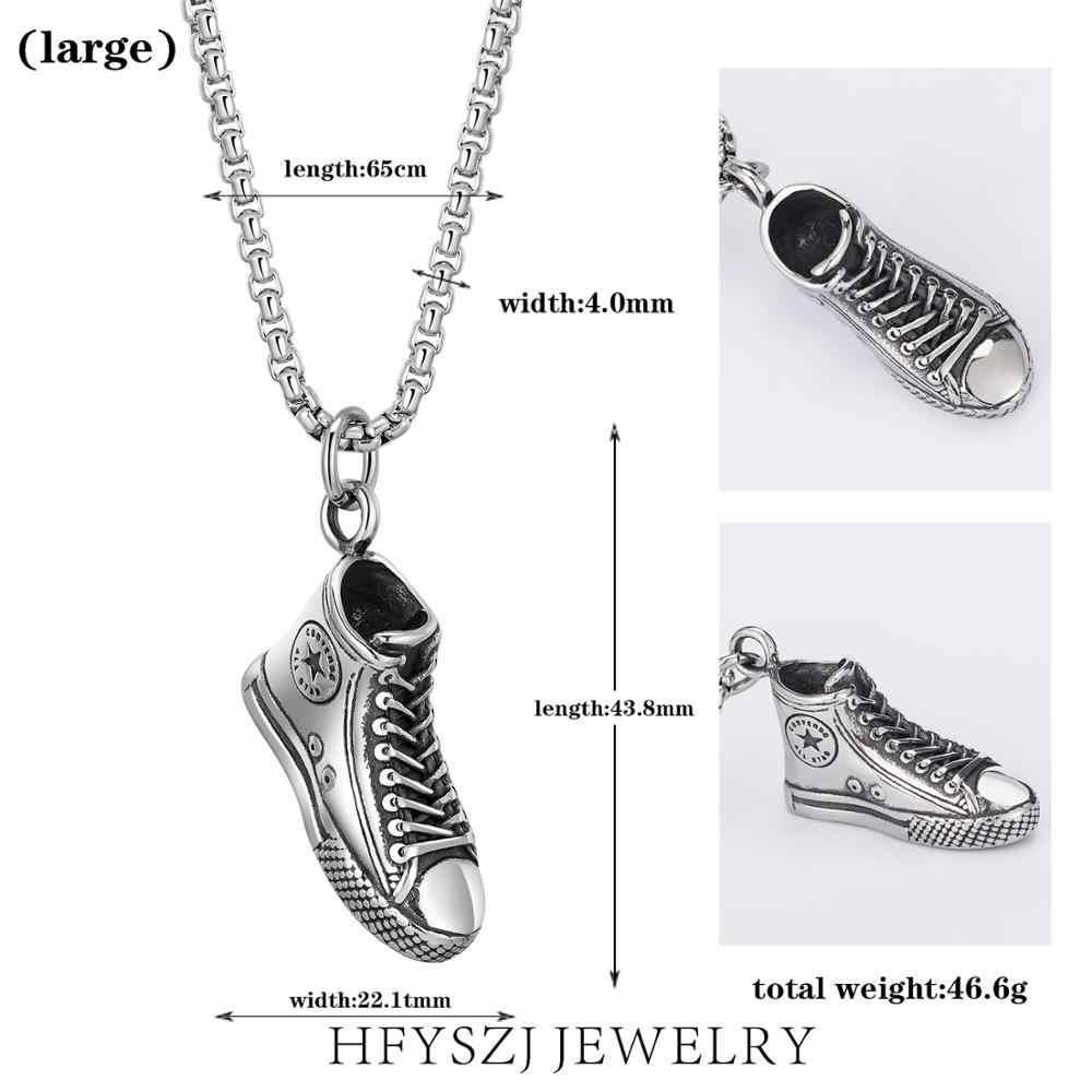 Yeni gizemli elemanları hip hop punk kolye eğilim kanvas ayakkabılar kolye kolye gotik ölüm ağır metal ayakkabı zinciri