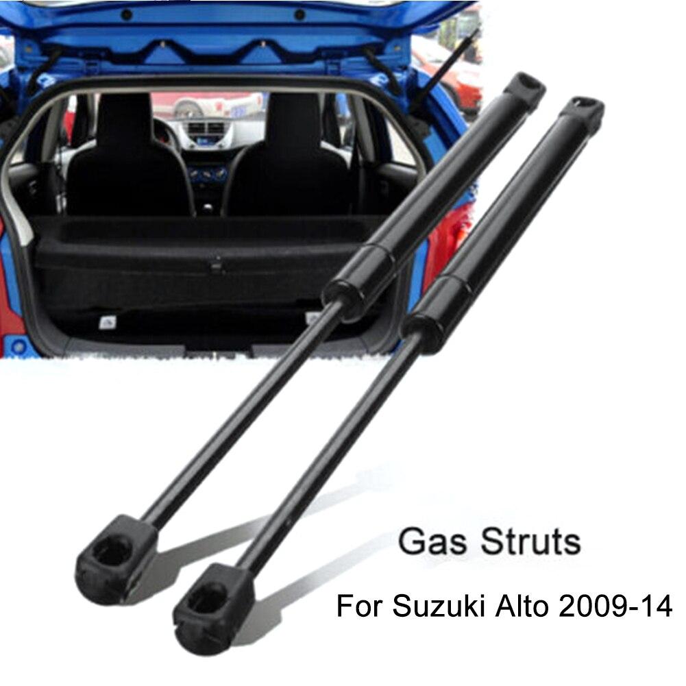 1 คู่แก๊ส Struts ด้านหลัง Tailgate ลิฟท์ Fit สำหรับ Suzuki Alto 09-14 Nissan Pixo 09-13 shock Absorbing แก๊สชุดอุปกรณ์เสริม