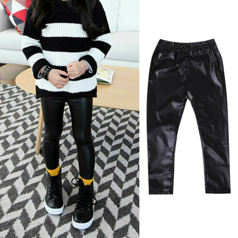 Kids Baby Girls Mermaid Fish Scale Stretch Leggings Cotton Tight Pants Spring Autumn Winter Trousers Clothes