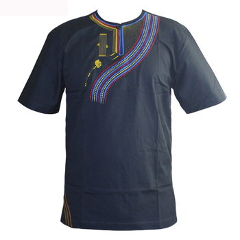 2019 New Style Men Camisas Hombre Tshirt African Embroidery Ethnic Awesome Colors Traditional Mali Vintage Dashiki Top