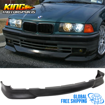 Fit For 92-98 BMW E36 3 Series M Tech Style Front Bumper Lip Poly Urethane Global Free Shipping Worldwide image