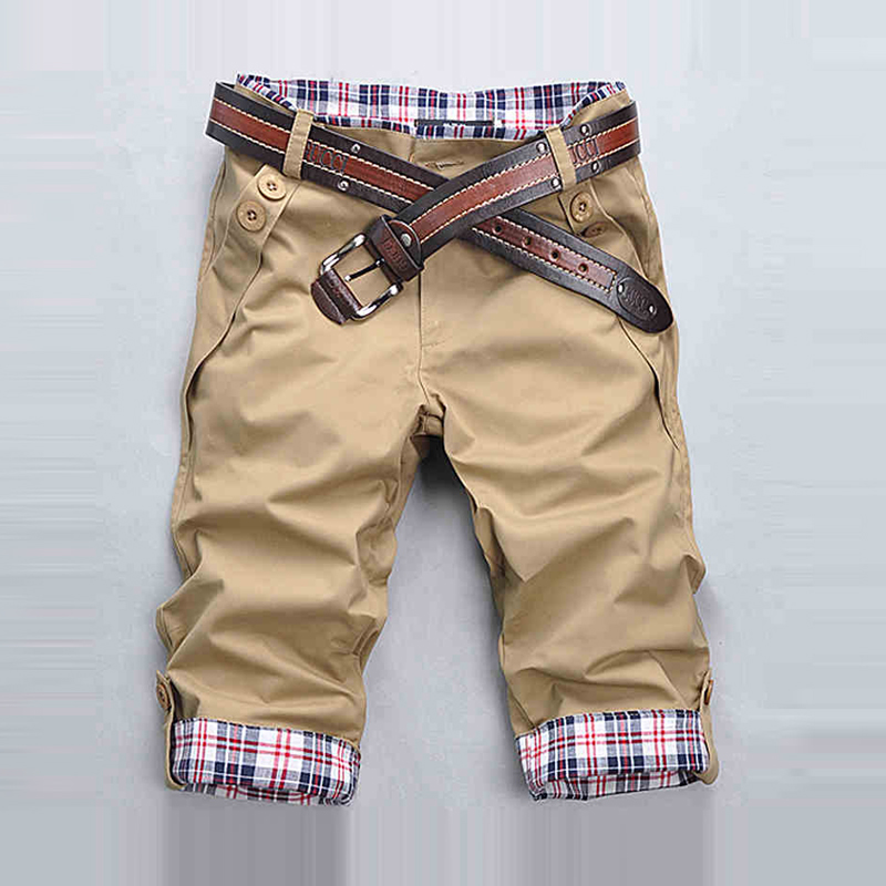 2019 Men's Shorts Summer Mens Shorts Casual Slim Fit Short Men Streetwear Cargo Shorts Man Clothes Knee Length