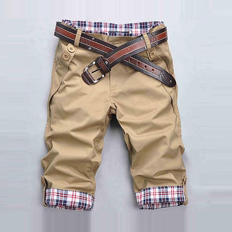 2019 Men's Shorts Summer Mens Shorts Casual Slim Fit Short Men Streetwear Cargo Shorts Man Clothes Knee Length