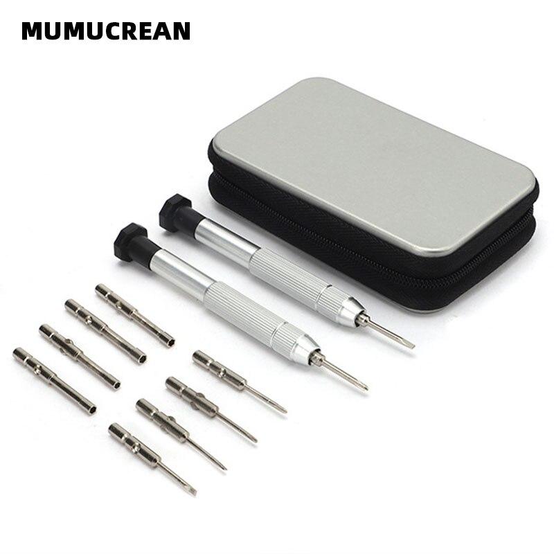 Multifunctional Glasses Accessories Repair Set Small Screwdriver Screwdriver 10 in 2 Glasses Screwdriver Set Tool
