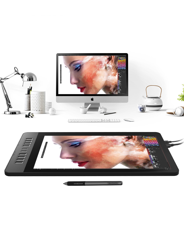 Tablet-Monitor Painting Graphics Drawing 8192 Gaomon-Pd1561 HD for with Levels Levels