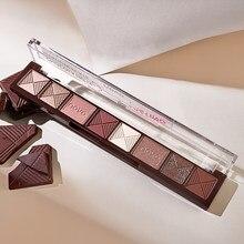 8 paleta de sombra de olho de cor sombra de olho de seda em pó fino impermeável maquiagem de longa duração não-manchas sombra de olho maquillaje tslm2