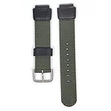 18 мм зеленый черный нейлоновый ремешок для часов подходит casio