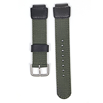 18mm green black nylon Watch Band Strap Fit for Casio G Shock W-S200H W-800H W-216H W-735H F-108WH W-215 AEQ-110W