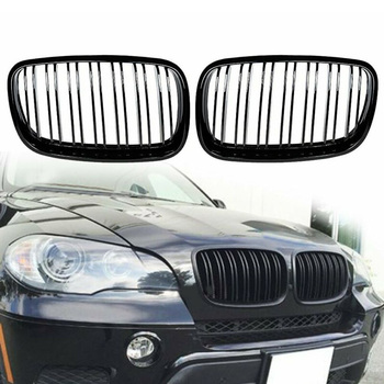 For BMW X5 E70 X6 E71 2008-2013 2pcs/Set ABS Black Front Grilles Car Front Kidney Grilles Car Accessories