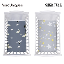 VeraUniquee Hot Baby Bed Sheet 100% Polyester Infant Baby Elastic Fitted Sheet Soft Breathable Boys Bed Sheets For Kids Beddding