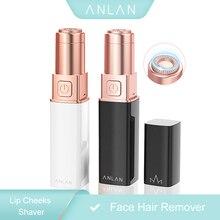 ANLAN Depiladora Facial Mujer, Afeitadora Eléctrica Removedor de Vello Facial para Mejillas Labios Axilas Brazos Pantorrillas