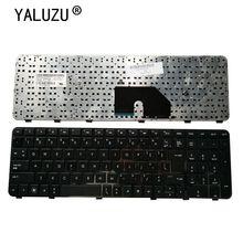 لوحة مفاتيح كمبيوتر محمول أمريكية ل HP DV6 DV6T DV6 6000 DV6 6100 DV6 6200 DV6 6b00 dv6 6c00 الأسود الإنجليزية NSK HWOUS أو 665937 251