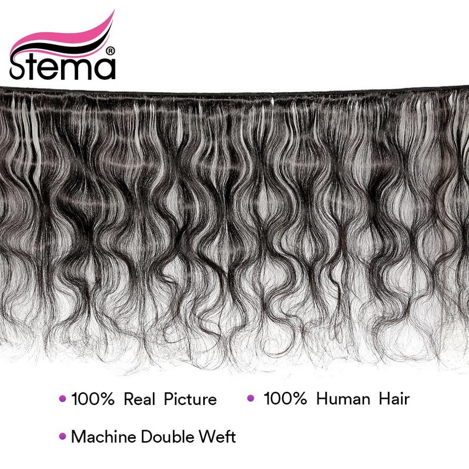Stema бразильские волнистые волосы 8 28 дюймов, волнистые пряди, 4 шт./лот, Remy человеческие волосы для наращивания, натуральный цвет, бесплатная доставка - 2