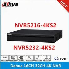 Dahua versão em inglês NVR5208-4KS2 8ch & NVR5216-4KS2 16ch & NVR5232-4KS2 32ch, gravador de vídeo de rede sem portas poe 4k nvr