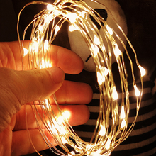 Led-String-Lights Wire Festoon Christmas-Decorations Tree Home-Room 10M Silver 5M 2M