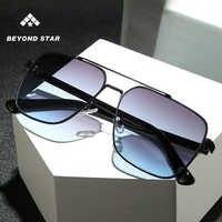 BEYONDSTAR 2019 Klassische Schwarze Quadrat Sonnenbrille Retro Männer Italienischen Design Metall Rahmen Sonnenbrille Für Frauen Hohe Qualität G28091