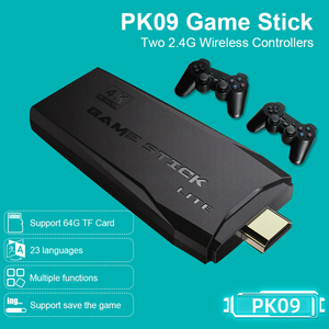 Image 1 - POWKIDDY Tv Game Stick 4K HD Video Game Console Retro Arcade 64GB 10000 Games Wireless Dual Controller Gamepad Childrens Gifts