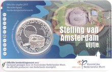 Netherlands 2017 Amsterdam Defense Line 5 Euro Silver Plated Commemorative Coin 100% Original Coins Real Euro Coin велосипед electra amsterdam original 3i mens 2017
