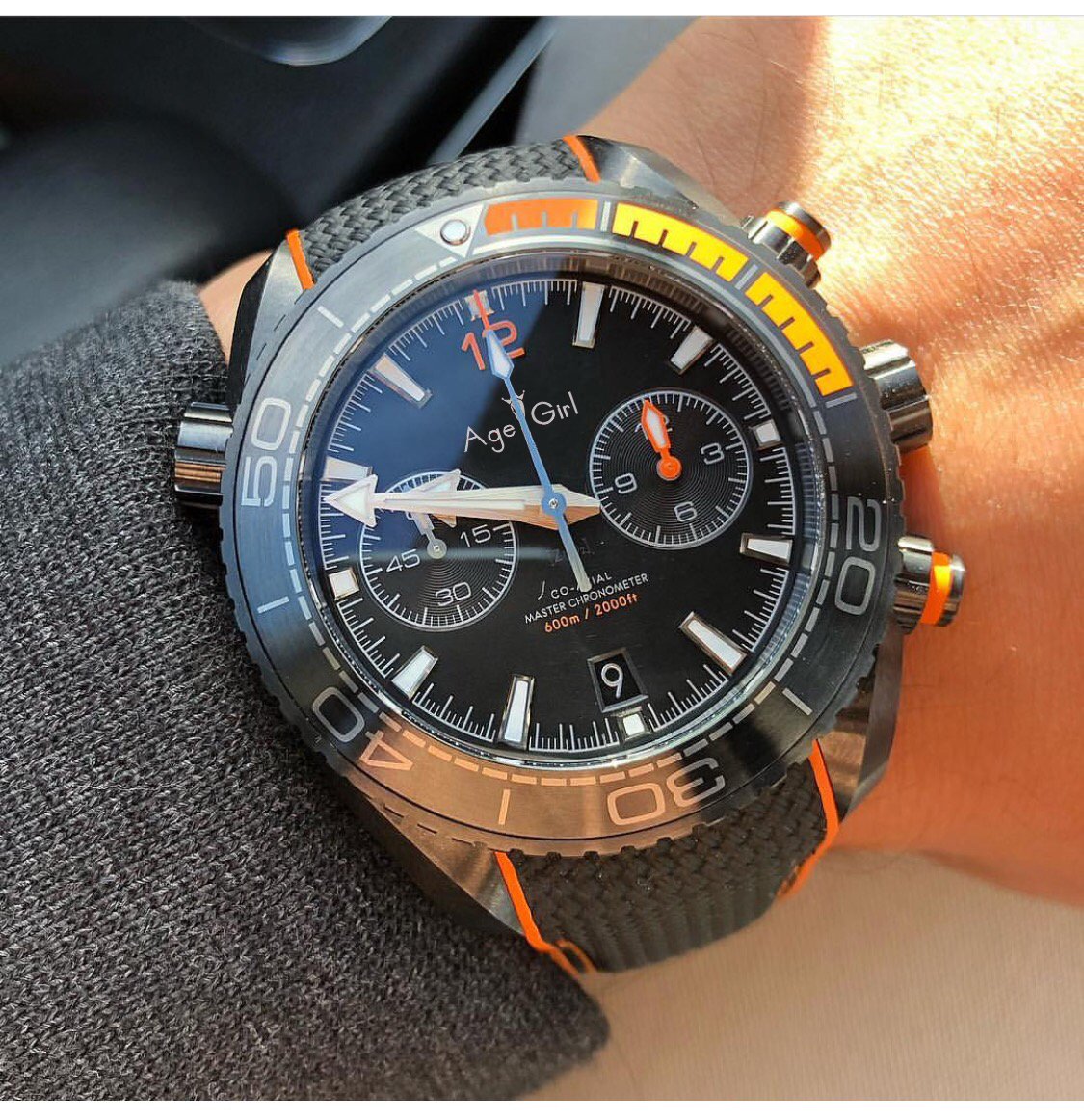 Luxury Brand New 007 Men Professional Watch Ceramic Bezel Stainless Steel Orange Full Black Grey Chronograph Sapphire Stopwatch