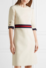 PandaQ Women Dress Customized Catwalk OL Office Wind Stitching Ribbon Solid Color Slim Bodycon Star Casual