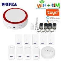 Wofea Tuya Wifi GSM Flash système d'alarme de sécurité stroboscopique 110 dB son et lumière SMS composition automatique APP pousser travailler avec alexa google home