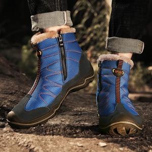 Image 5 - Snow Boots for Men Plush Waterproof Slip Men Boots Platform Thick Resistant Winter Shoes Plus Size 38 46 Warmest Winter Shoes