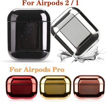 Colorful Plating Earphone Case For Airpods 3 2 1 Air Pods Pro Hard PC Earphone Case For AirPods Pro Airpods Protective Cover Box 3d lucky rat cartoon bluetooth earphone case for airpods pro cute accessories protective cover for apple air pods 3 silicone