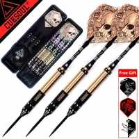New CUESOUL 23g 25g 27g Professional Steel Tip Darts With Cool Dardos Feather Leaves Flights For Indoor Dartboard Games