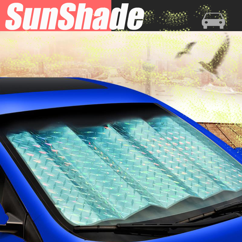 Casual Foldable Car Visor Cover Front Rear Block Window Windshield wholesale car accessories SunShade Sun Shade 1Pcs