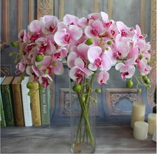 7-Head Small Phalaenopsis Simulation Phalaenopsis Home Furnishing Flower Living Room Decoration Flowers Phalaenopsis