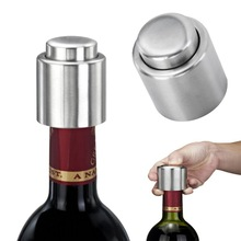 LOYPA New Arrival 1PC Silver Elegant Stainless Steel Vacuum Wine Stopper Saver Preserver Pump Sealed Sealer