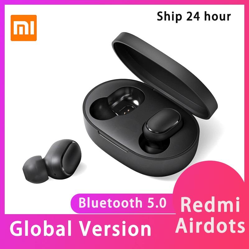 Xiaomi Redmi Airdots Earbuds TWS Wireless Bluetooth Earphone Stereo Bass Bluetooth 5.0 With Mic Handsfree AI Control