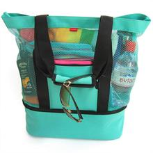 Cooler women handbags  Insulated Picnic Beach Mesh Travel Tote Bag with bags for 2018