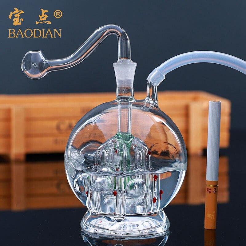 Светильник лампочка paw стеклянный чайник бесшумный фильтр опорная труба стекла шланг полный набор электронных сигарет горшок