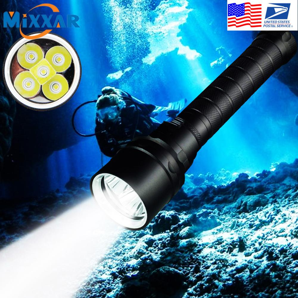 EZK20 Dropshipping Diving Flashlight T6 Underwater Flashlights 100M Scuba Safety Dive Light Torch for Under Water Sports|LED Flashlights|   - AliExpress